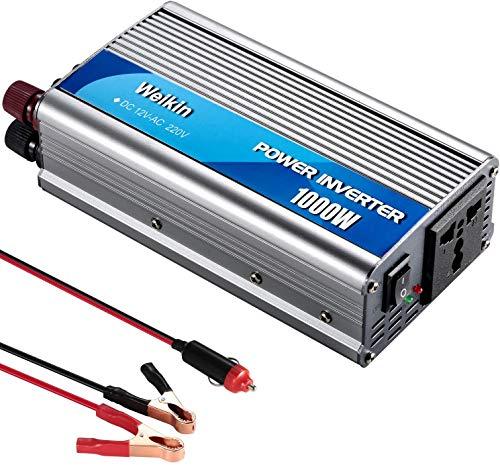 Power Inverter 1000W Invertitore DC 12V a AC 220V convertitore di potenza invertitore di potenza con accendisigari e clip per batteria