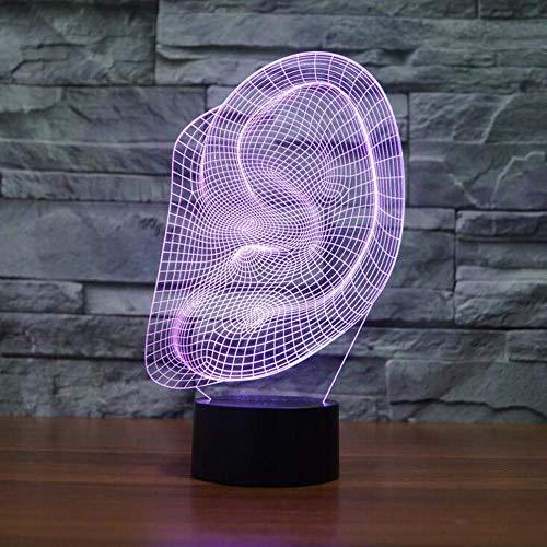3D Oor Lamp Illusie Lamp 7Color Verandering voor Jongens Gift Toys Kunsten en Ambachten USB Kleine Nachtlampje Tekening Kamers Decoratie