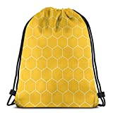 Honeycomb Bee Hive Texture Packable Sport Gym Drawstring Sackpack Sac à Dos Sac pour Hommes, Femmes