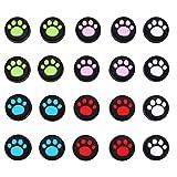 ibasenice 20Pcs Thumb Grip Caps Sostituzione Lovely Cat Claw Del Silicone di Disegno Rocker Cover Anti- Slip Copertura Della Cassa Joystick di Protezione Cap Tappo Joystick Analogico Del