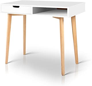 Artiss Office Computer Desk Wooden Home Gaming Study Table, White