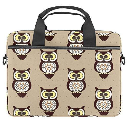 Laptop Computer Bag Messenger Bag Multi-Compartment Briefcase Satchel Shoulder Bag Owl Coruja Background Pattern