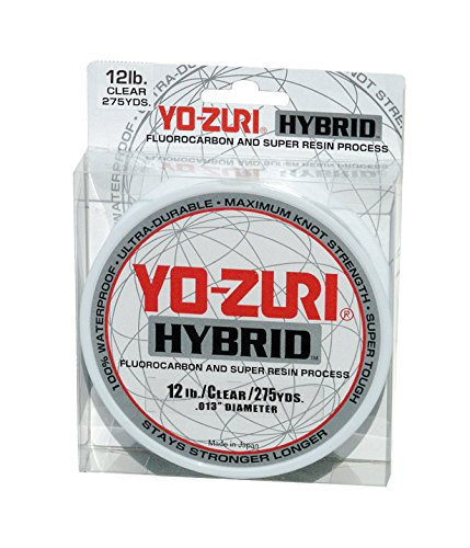Yo-Zuri 275-Yard Hybrid Monofilament Fishing Line, Clear, 12-Pound