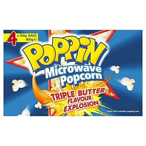 Poppin Triple Butter Mikrowellen Popcorn 400g