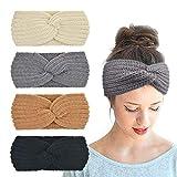 DRESHOW - Cinta de punto para mujer, 4 unidades, para el invierno, para el pelo, para ganchillo, para el oído 4 Pack Style 10 A Talla única