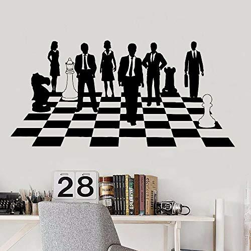Juego de ajedrez Art Decal traje de negocios lugar de trabajo oficina Trabajo en equipo Cultura de la empresa interior Decoración creativa puertas ventanas Vinilo Etiqueta de la pared Mural