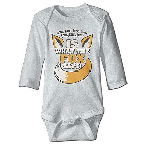 Body da bambino in jersey a maniche lunghe, unisex, per neonati, con anello Ding Ding is What The Fox Days Boys tutina a maniche lunghe 3 18 Mesi