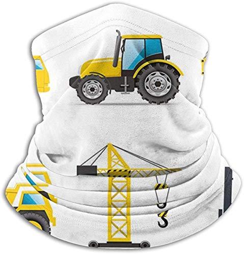 Belongtu Nackenwärmer Schal Halstuch Cartoon Style Heavy Machinery Truck Crane Digger Mixer Tractor Construction Ski Cold Weather Face Cover Neck Warmer Fleece Hood Winter Hats