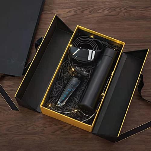 JJSPP Juego De Regalo para Hombres Cinturón De Embalaje Exquisito + Billetera + Taza Termo + Juego De Combinación Creativa De Moda De Maquinilla De Afeitar (Color : B)