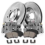 Callahan CCK06088 [2] FRONT Original Brake Calipers + [2] OE Rotors + Ceramic Brake Pads + Hardware [fit Hyundai Kia]