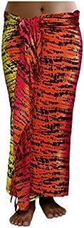 100 Forme Sarong telo mare Pareo avvolgente Rock Loop rosso arancione Sar88 CA