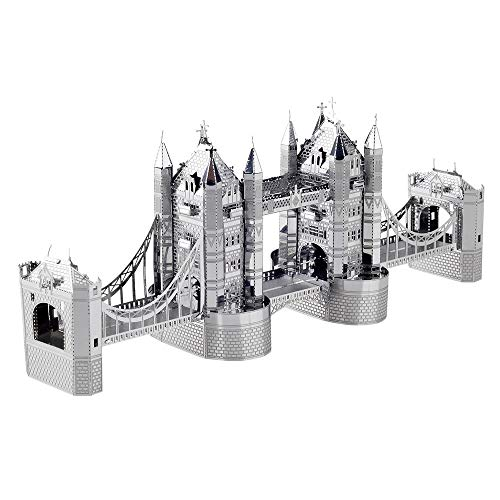Piececool 3D Metal Model Kits for Adults - London Tower Bridge Architecture DIY 3D Metal Jigsaw Puzzle for Adults