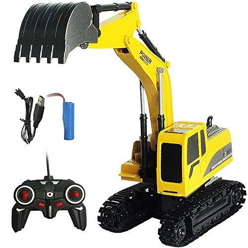 PETRLOY Tractor de control remoto RC amarillo - Juguetes Pull Cars for...