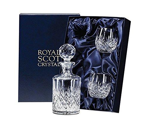 Royal Scot Crystal Edinburgh Kenner Crystal Whisky Decanter Set met Barrel Tumbler Bril