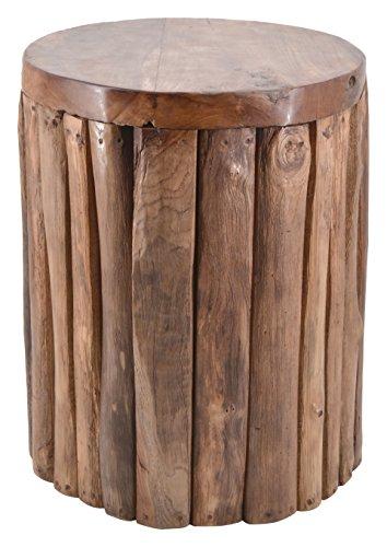 Moycor Taburete de teka con troncos verticales
