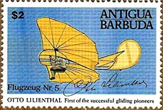1991 Lilienthal Flight, Gliding, Collectible Stamp, Mint Never Hinged