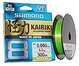 SHIMANO Kairiki 8, 300 Meter, Mantis Verde, 0.315mm/33.5kg, Filo da Pesca Intrecciato, 59WPLA68R09