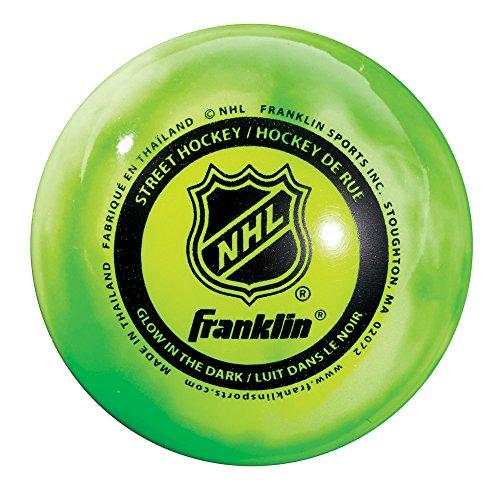 Franklin Sports NHL Street Hockey Ball, Glow in The Dark, Einheitsgröße