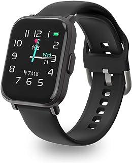 Reloj inteligente, UXD Fitness Activity Tracker con monitor de ritmo cardíaco de sueño para hombres y mujeres 5 ATM impermeable podómetro Smartwatch para iPhone Samsung Android teléfonos