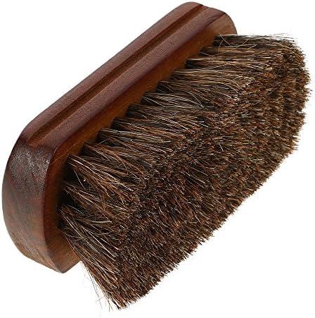 Aboodah Men s Beard Brush Natural Horse Hair Mustache Shaving Brush Facial Hair Brush Wooden product image