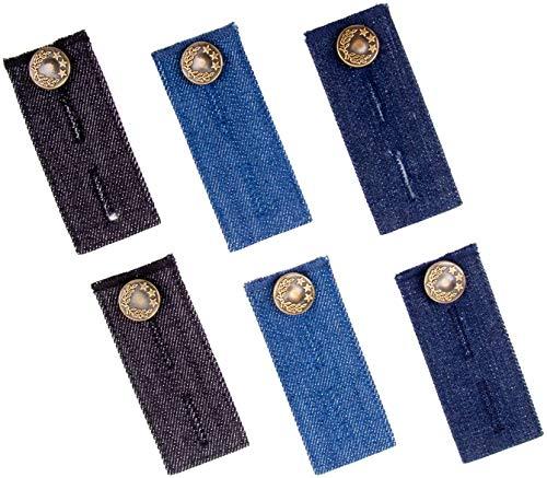 FLZONE Cowboy Comfy Waist Extender Ajustable, botones elásticos Extensores establecidos para traje...