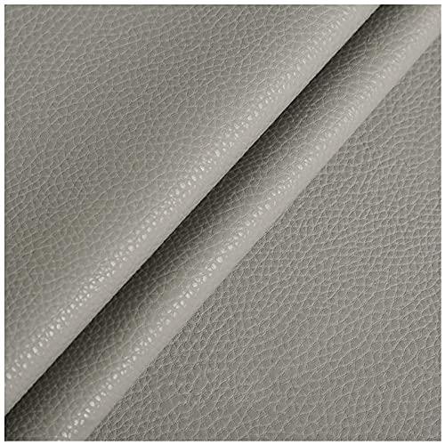NIUFHW Cuero sintético gris claro 1,38 m* 1 m artificial de cuero de la PU DIY artesanía decoración sofá tapizado tela artesanía tela por el patio