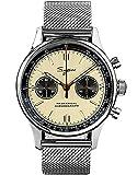 40 MM oro collo di cigno milano maglia champagne panda cronografo meccanico...
