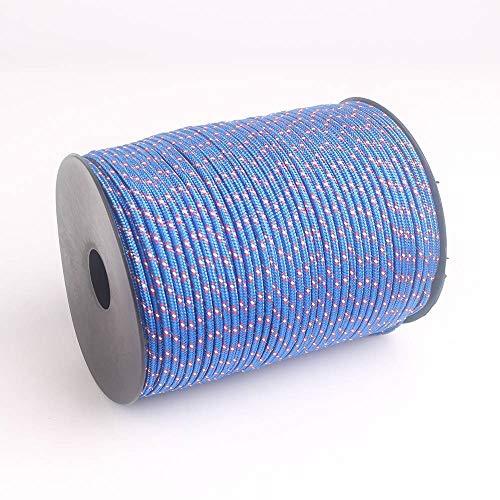 MJS YoouPara 30 Couleurs Plus Paracord 3 mm 100M Corde de Parachute Escalade Camping Corde Bricolage Cordes étendoir Multifonctions Corde (Couleur : 405 Blue Camo, Length(m) : 100meters)