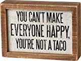 Primitives by Kathy Not A Taco Inset Sign, 5x7 inches, Wooden