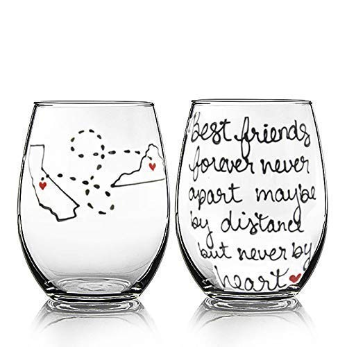 Best Friend, Friendship Gifts for Women, Long Distance Friendship Gifts, Best Friend Christmas Gifts for Friends Female, Best Friends, Her, Him, Bestie, BFF Gifts,Stemless
