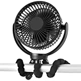 Product Image of the 5000mAh Rechargeable Battery Powered Clip Fan with Flexible Tripod, Super Quiet,...