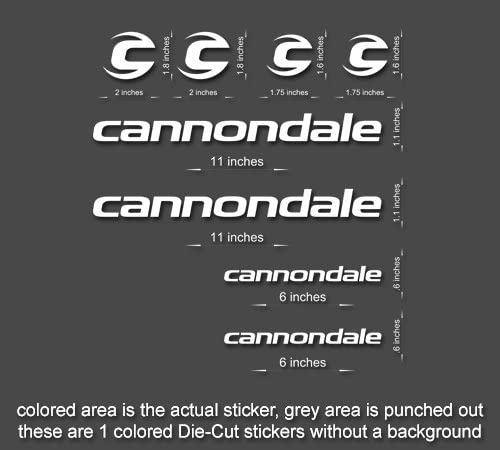 Decals Black n.12 Cannondale Track Bicycle Frame Stickers
