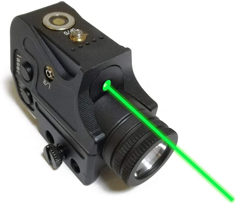 Metal Tactical Green Laser Sight & Flashlight Laser Combo,Magnetic Charging Green