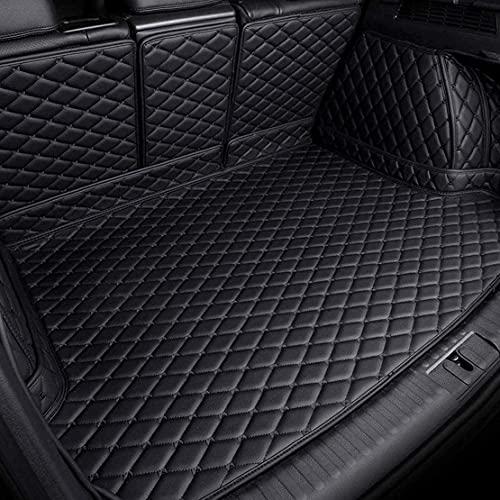 für Nissan X-Trail T32 7 Sitze 2014-2019 Auto Leder Kofferraumwanne Kofferraum, Kofferraummatte Schutzpolster Wasserdicht Tray Mats RüCkseite Liner Komplett Bedeckt Protector Dekoratio ZubehöR