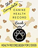 Canine Health Record: 8' x 10' Complete Dog Health Record Book for 2 Dogs, Dog & Puppy Vaccine Vaccination Shot Record, Puppies Pet Medical Health Record for Canine, Multiple Animals (100 Pages)