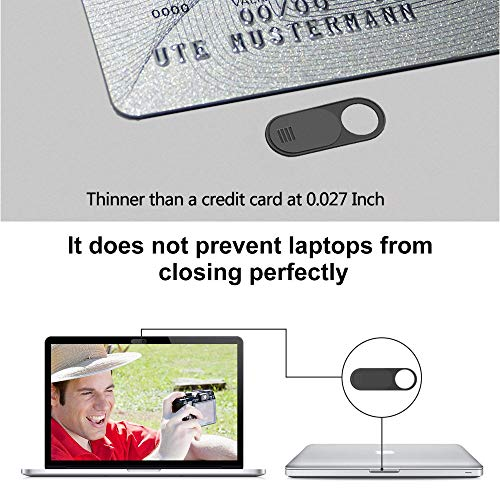 ANYOYO Webcam Abdeckung/ 0.7mm Thin Webcam Cover/Anti-Spionage & Privatsphäre Schutz, Kamera Sticker/Webcam Cover für Computer, Laptop, Smartphone, Tablet UVM/Ultra dünnes Design / 3er Set schwarz