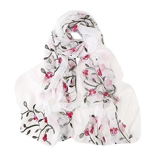 ZEELIY Damen Mode Embroidery Hijab KopftüCher Modern Chiffon Scarf Wrap Shawls Headband Muslim Hijabs Scarf