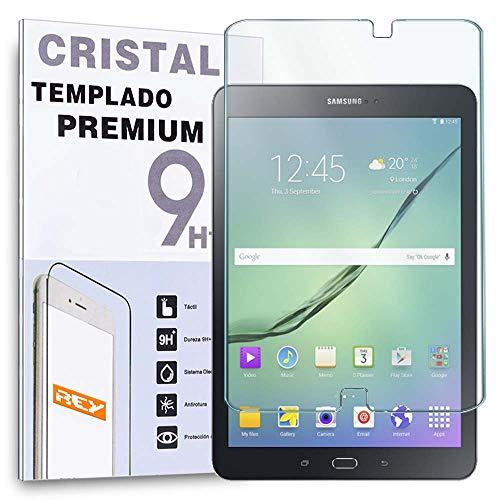 REY Protector de Pantalla para Samsung Galaxy Tab S2 9.7' T813 T810, Cristal Vidrio Templado Premium