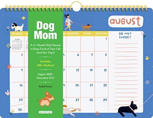 Dog Mom 17-Month Wall Calendar 2021