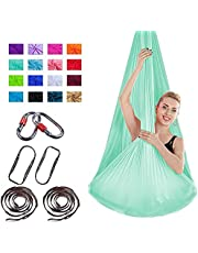 Aerial Yoga Hammock - Healthy Model Leven Premium Air Silk Yoga Swing Anti-Gravity Yoga, verbeterde flexibiliteit en kernkracht