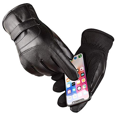 Touch Screen Winter Gloves Waterproof & Windproof for Motorcycle,Cycling,Riding,Running,Snow Sports, -10°F Cold Proof Cold Weather Gloves Warm Thermal Gloves for Men and Women Black (Large)