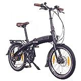 """NCM Lyon 20"""" Bicicletta elettrica Pieghevole, 36V 8Ah 288Wh Nero"""