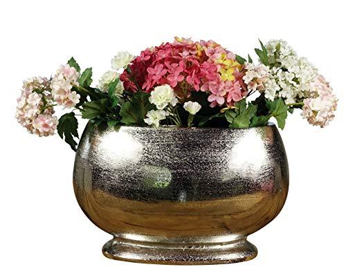 MichaelNoll Vase Blumenvase Gefäß Pokalvase Dekovase Aluminium Silber 34 cm
