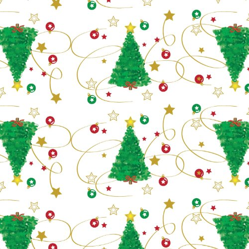 Party Essentials Heavy Duty Printed Plastic Table Cover Available in 44 Colors, 54' x 108', Christmas