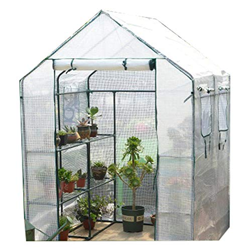 XYZZ Multi-Functional Home-Complete Mini Greenhouse, Pe Material, Large-Capacity Transparent Pvc Coating, Walk-In Design, Stable Ventilation, Easy Assembly