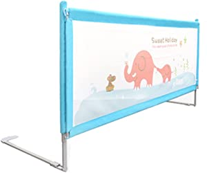 X-L-H Portable Crib Guardrail Stable Safety Bed Baffle Height Adjustable 150 180 200cm  blue   Size L-180cm