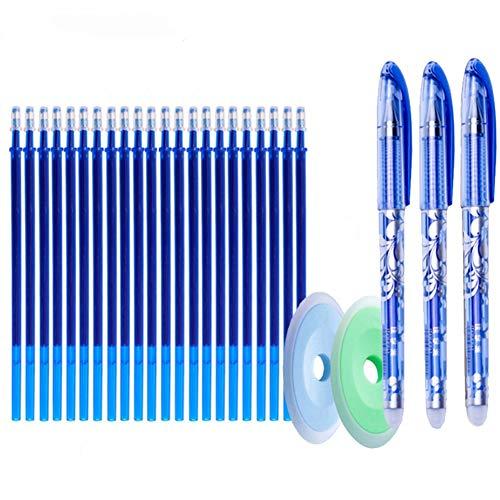 25 unids/set recargas de bolígrafos de gel borrables 0,5mm mango lavable pluma mágica borrable para bolígrafos escolares herramientas de escritura papelería Kawaii