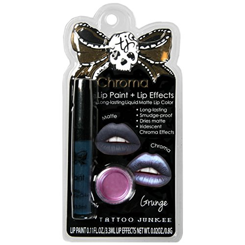 Tattoo Junkee Lip Color + Chroma Effects Long Lasting Matte Liquid Lipstick, Grudge, Purple shade