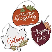 Esoteric Maven Rustic Harvest Blessings, Happy Fall, Gather, Metal Wall Décor Set | Collection of Autumnal Harvest Inspire...