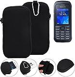 K-S-Trade Neopren Hülle für Samsung Xcover 550 Schutzhülle Neoprenhülle Sleeve Handyhülle Schutz Hülle Handy Gürtel Tasche Case Handytasche schwarz